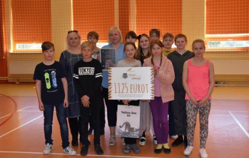 Nissi Põhikooli lapsed kogusid heategevuslike kohvikutega tiiger Pootsmanile kodu rajamiseks 1125 eurot